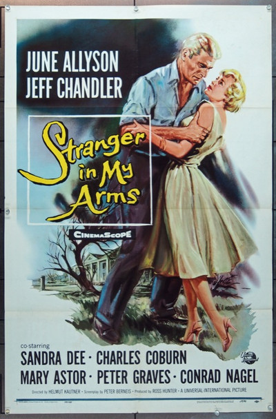 STRANGER IN MY ARMS (1959) 15137 Universal Pictures One Sheet Poster    27x41   Folded   Fine Plus Condition
