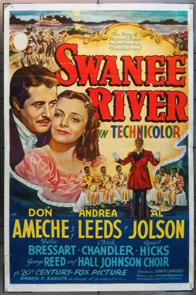 SWANEE RIVER (1939) 15333 Original 20th Century-Fox One Sheet Poster (27x41).  Folded.  Very Good.