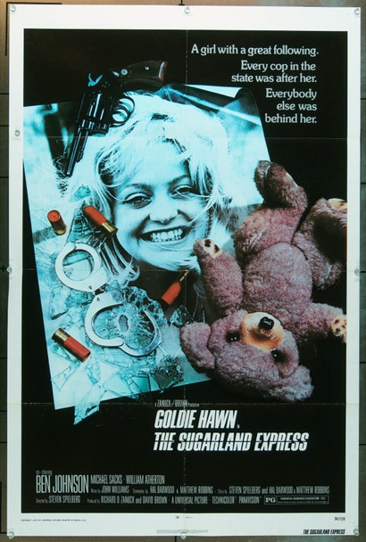 SUGARLAND EXPRESS, THE (1974) 2186 Original Universal Pictures One Sheet Poster (27x41). Folded.  Fine condition.