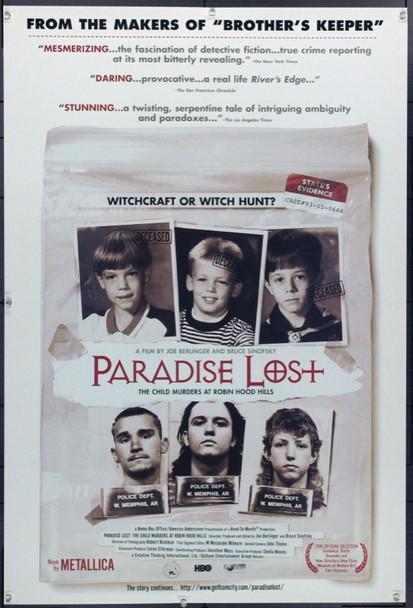 PARADISE LOST: THE CHILD MURDERS AT ROBIN HOOD HILLS (1996) 15567 Original Creative Thinking International Ltd. Style B One Sheet Poster (27x41).  Unfolded.  Very Fine.