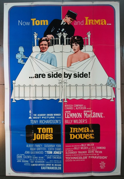 TOM JONES (1963) 8418 Original United Artists 40x60 Poster.   Folded.  Very Good Condition.
