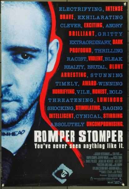 ROMPER STOMPER (1992) 22015 Original Academy One Sheet Poster (27x41).  Unfolded.  Very Fine.