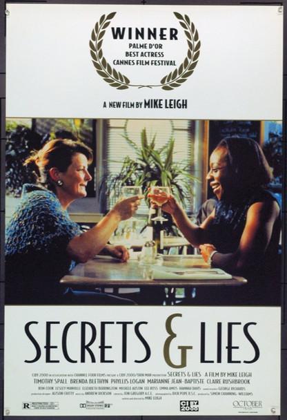 SECRETS & LIES (1996) 22019 Original October Films One Sheet Poster (27x41).  Heavy Stock.  Unfolded.  Very Fine.