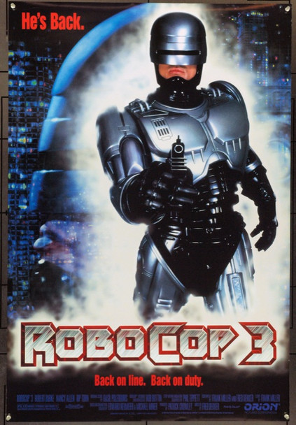 ROBOCOP 3 (1993) 22013 Original Orion Pictures One Sheet Poster (27x41).  Double-Sided.  Unfolded.  Very Fine.