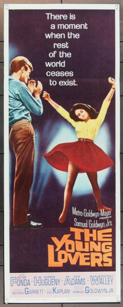 YOUNG LOVERS, THE (1964) 11256 MGM Original Insert Poster   14x36  Folded  Fine Plus