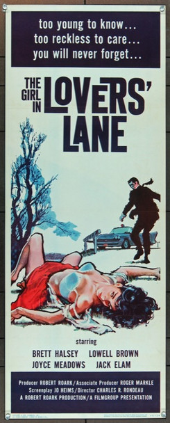 GIRL IN LOVER'S LANE, THE (1960) 17028 Original Filmgroup Insert Poster (14x36).  Fine Plus To Very Fine Condition.