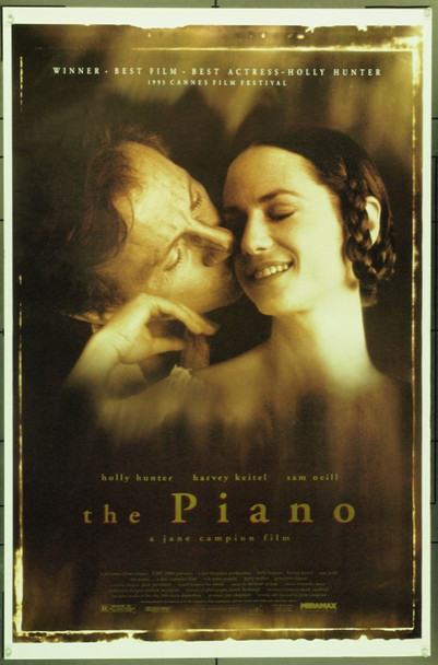 PIANO, THE (1993) 22010 Original Miramax Films One Sheet Poster (27x41).  Unfolded.  Very Fine.
