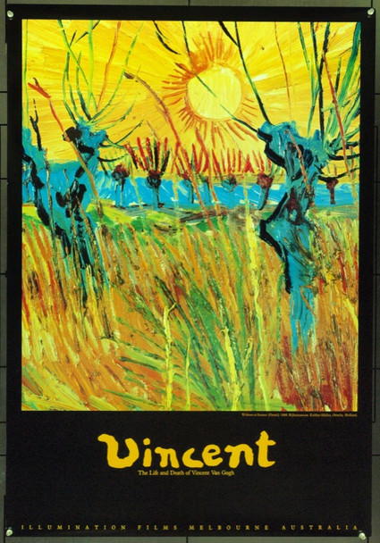 VINCENT (1987) 22029 Original Roxie Releasing One Sheet Poster (27x41).  Unfolded.  Very Fine.