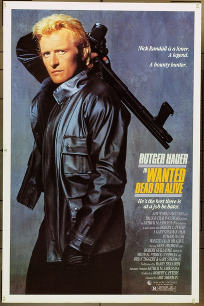 WANTED: DEAD OR ALIVE (1986) 1690 Original New World Pictures One Sheet Poster (27x41).  Rolled.  Very Fine Plus.