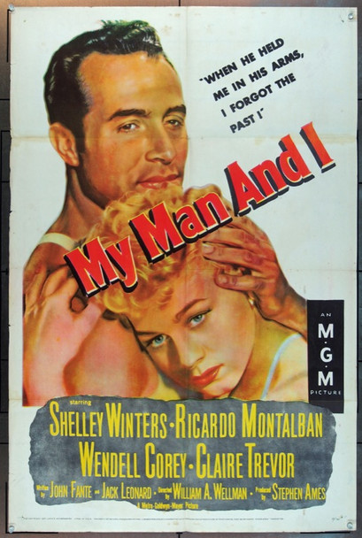 MY MAN AND I (1952) 9186 MGM Original One Sheet Poster    27x41  Folded.   Fine Plus