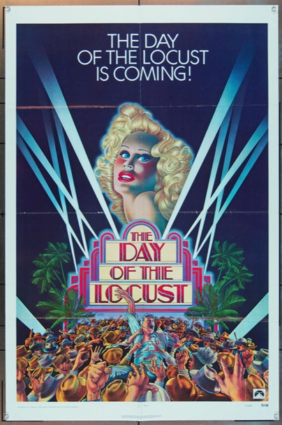 DAY OF THE LOCUST, THE (1974) 9188 Original Paramount Pictures Advance One Sheet Poster (27x41).   Folded.  Fine Plus.
