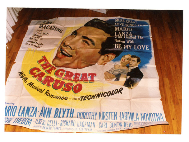 GREAT CARUSO, THE (1951) 9869 MGM Original Six Sheet Poster (81x81).  Folded.  Fine Plus