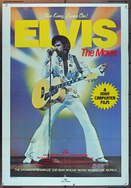 'ELVIS:  THE MOVIE'  (TELEVISION) (1979) 8266 South African Original Poster (28x41).  Folded.  Fine Condition.