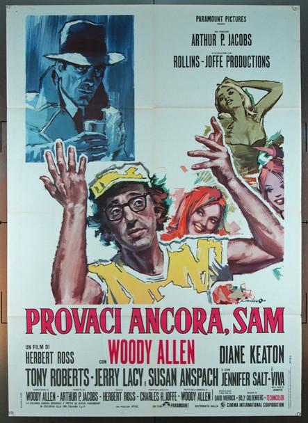 PLAY IT AGAIN, SAM (1972) 1720 Original Paramount Pictures Italian 2 Foglie Poster (39x55).  Folded.  Very Fine.