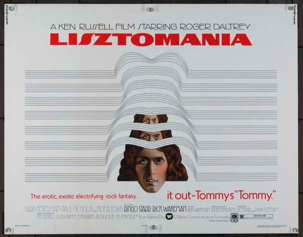 LISZTOMANIA (1975) 922 Warner Brothers Original Half Sheet Poster    22x28   Unfolded   Very Fine