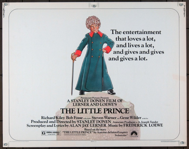LITTLE PRINCE, THE (1974) 827 Paramount Original Half Sheet Poster   22x28  Unfolded.   Fine Condition.
