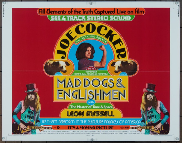 MAD DOGS AND ENGLISHMEN (1971) 945 Original MGM Half Sheet Poster (22x28).  Folded.  Very Fine Condition.