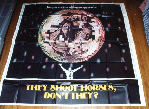 THEY SHOOT HORSES, DON'T THEY? (1970) 9796 ABC Pictures Original Six Sheet Poster   81x81  Folded.   Very Fine