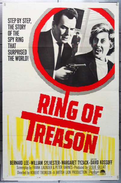 RING OF TREASON (1963) 11275 Paramount Pictures One Sheet Poster    27x41  Folded   Very Fine Condition.  The film was directed by Robert Tronson.  Starring William Sylvester.  MovieArt