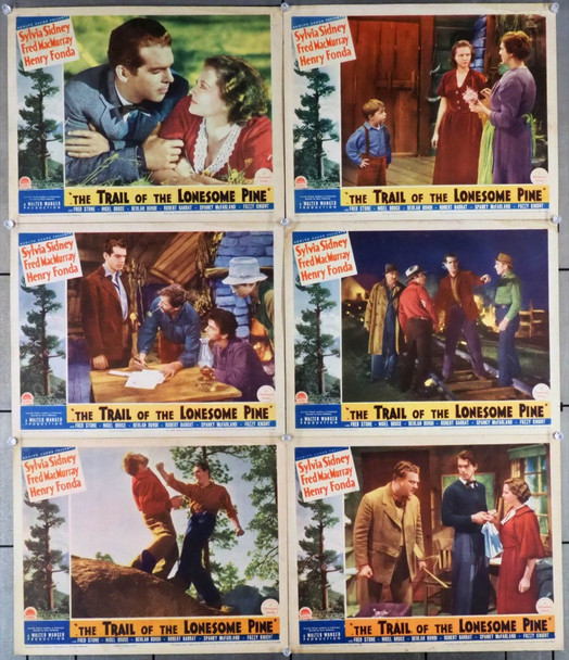TRAIL OF THE LONESOME PINE (1936) 24632 Original Paramount Pictures Six Scene Lobby Cards (11x14).  Very Fine.