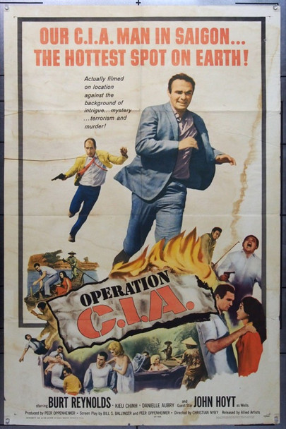 OPERATION C.I.A. (1965) 11273 Original Allied Artists One Sheet Poster( 27x41).  Folded.  Good Condition Only.