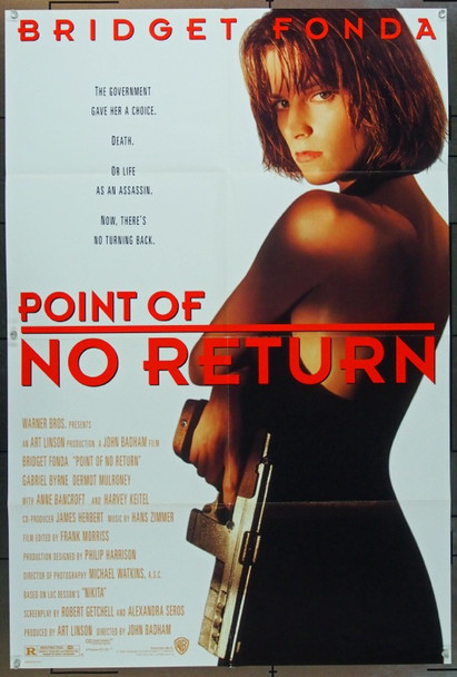 POINT OF NO RETURN (1993) 5004 Original Warner Brothers One Sheet Poster (27x41).  Folded.  Very Fine Condition.