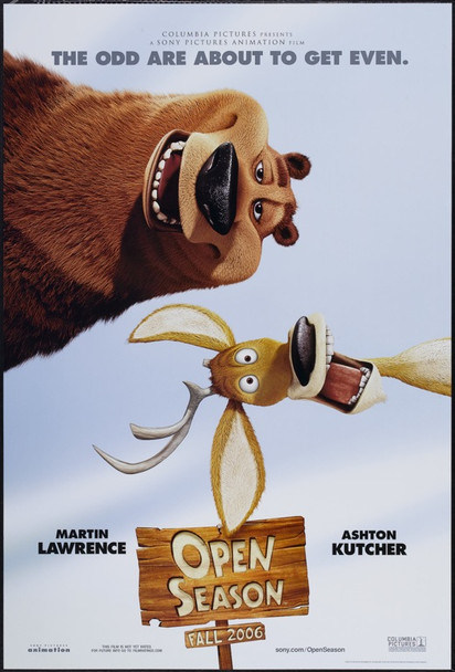 OPEN SEASON (2006) 20712 Sony Pictures Original One Sheet Poster (27x40).   Rolled.  Very Fine