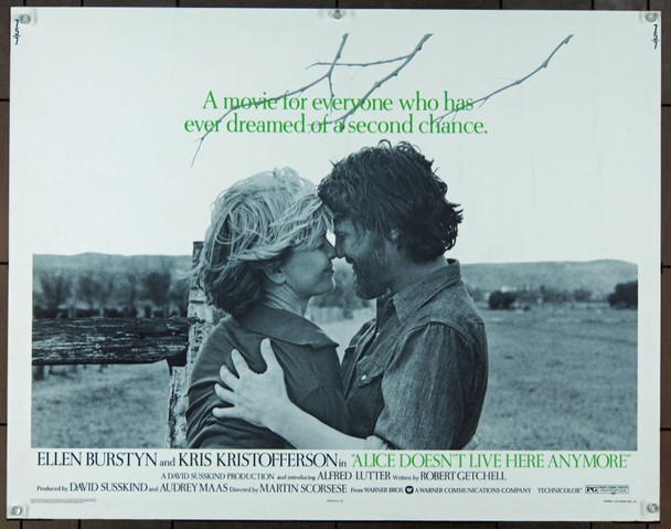 ALICE DOESN'T LIVE HERE ANYMORE (1975) 848 Original Warner Brothers Half Sheet Poster (22x28).  Unfolded.  Very Fine.