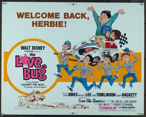 LOVE BUG, THE (1968) 920 Original Walt Disney Productions Half Sheet Poster (22x28).  Unfolded.  Very Fine.