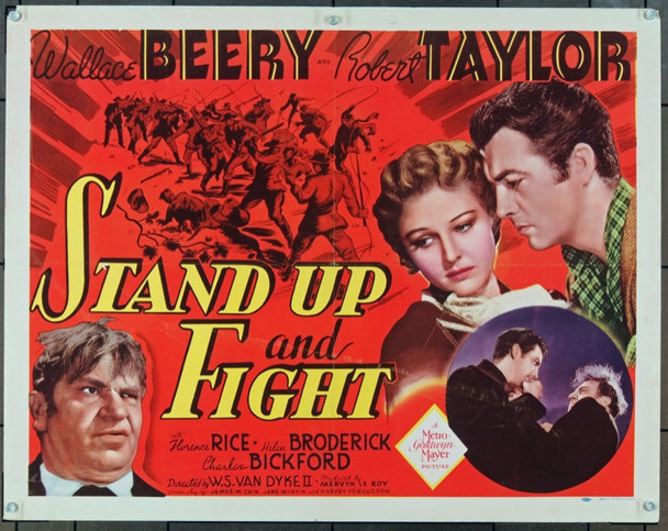STAND UP AND FIGHT (1939) 852 Original MGM Half Sheet Poster (22x28).  Folded.  Fine Plus.