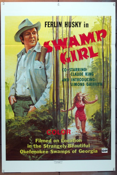 SWAMP GIRL (1971) 7551 Donald A. David Productions One Sheet Poster   27x41  Folded.   Very Fine