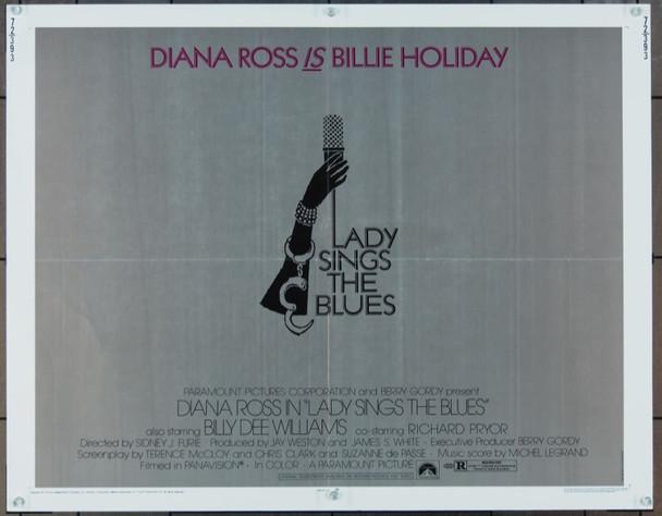 LADY SINGS THE BLUES (1972) 894 Paramount Original Half Sheet Poster  (22x28)  Folded  Very Good