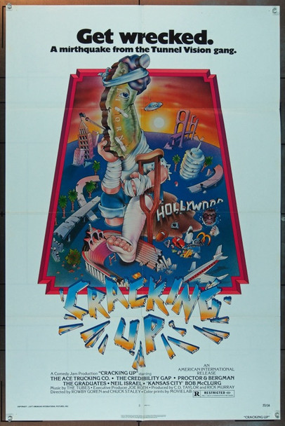 CRACKING UP (1977) 5237 Original American International Pictures One Sheet Poster (27x41).  Folded.  Fine Plus Condition.
