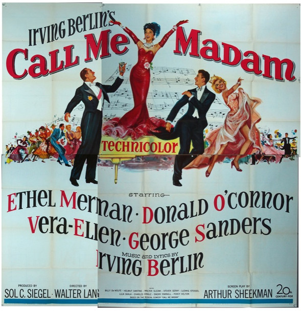 CALL ME MADAM (1953) 9929 20th Century Fox Original Six Sheet Poster    81x81  Fine Plus Condition.