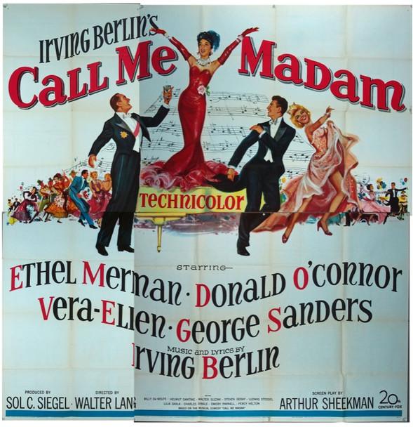 CALL ME MADAM (1953) 9929 20th Century Fox Original Six Sheet Poster    81x81  Fine Plus Condition.