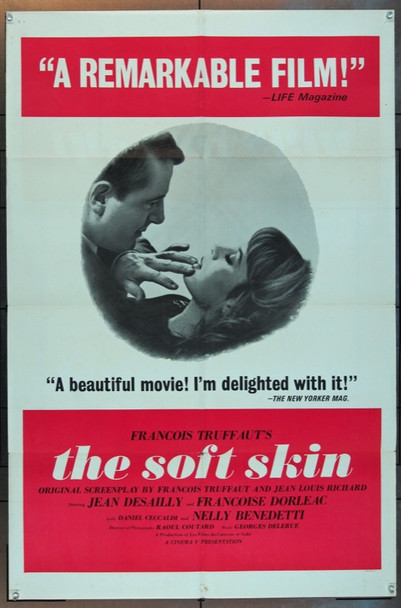 SOFT SKIN, THE (1964) 2431 Original Cinema V One Sheet Poster (27x41).  Folded.  Fine Plus Condition.