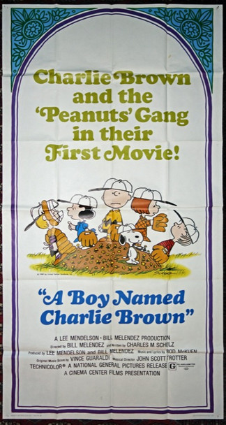 BOY NAMED CHARLIE BROWN, A (1970) 6486 National General Pictures U.S. Three Sheet Poster    41x81   Folded.   Fine Plus
