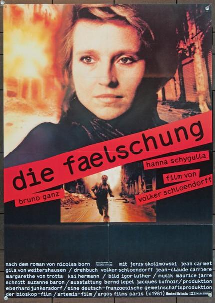 FAELSCHUNG, DIE (1981) 5543 Argos Pictures Original German 23x33 Poster   Folded   Very Fine