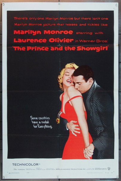 PRINCE AND THE SHOWGIRL, THE (1957) 22510 Original Warner Brothers One Sheet Poster (27x41).  Folded.  Fine Plus Condition.