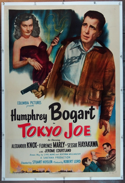 TOKYO JOE (1950) 6469 Original Columbia Pictures One Sheet Poster (27x41).  Linen-Backed.  Very Fine.