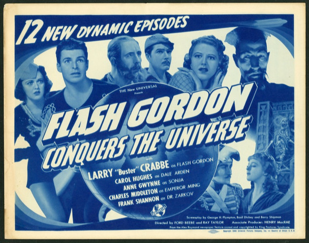 FLASH GORDON CONQUERS THE UNIVERSE (1940) 4710 Original Universal Pictures Title Lobby Card (11x14).  Fine Plus To Very Fine Condition.