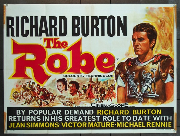 ROBE, THE (1953) 5649 Original British Quad 1963 Re-Release Poster (30x40).  Folded.  Fine Condition.