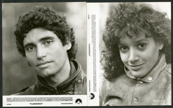 FLASHDANCE (1983) 4941 Original Paramount Pictures Group  of 8 Gelatin Silver Still Photographs (8x10).  Very Fine Condition.