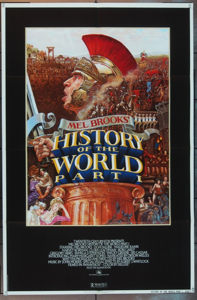HISTORY OF THE WORLD PART I (1981) 5665 Original 20th Century Fox One Sheet Poster (27x41).  Folded.  Very Fine Condition.