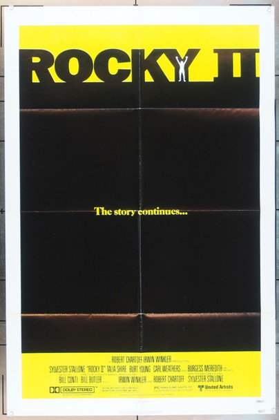 ROCKY II (1979) 4914 Original United Artists One Sheet Poster (27x41).  Folded.  Very Fine Condition.