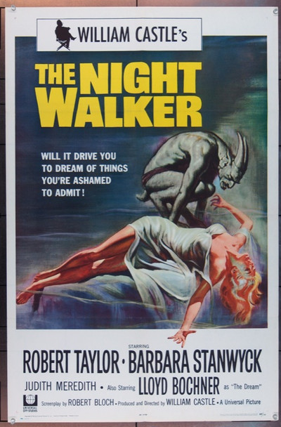 NIGHT WALKER, THE (1965) 4934 Original Universal Pictures One Sheet Poster (27x41).  Folded.  Very Fine Condition.