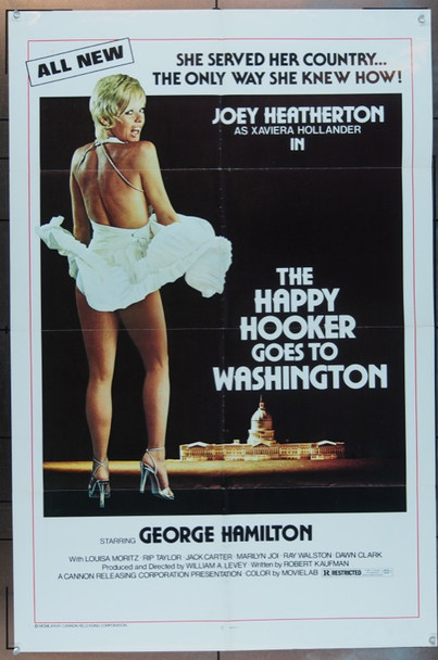 HAPPY HOOKER GOES TO WASHINGTON, THE (1977) 5079 Original Cannon Film Distributors One Sheet Poster (27x41).  Folded.  Fine Condition.