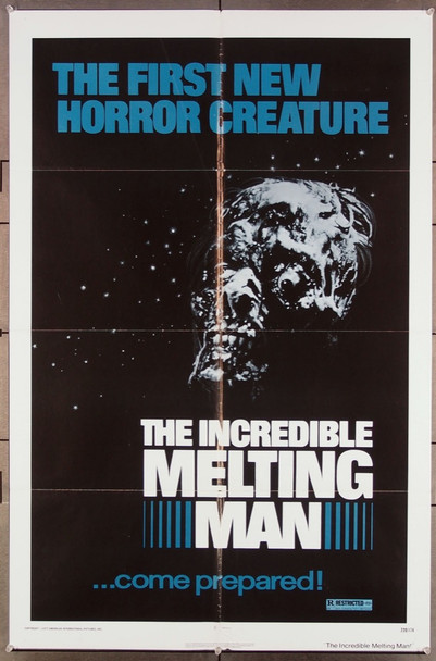 INCREDIBLE MELTING MAN, THE (1977) 5073 Original American International Pictures One Sheet Poster (27x41).  Folded.  Fine Condition.