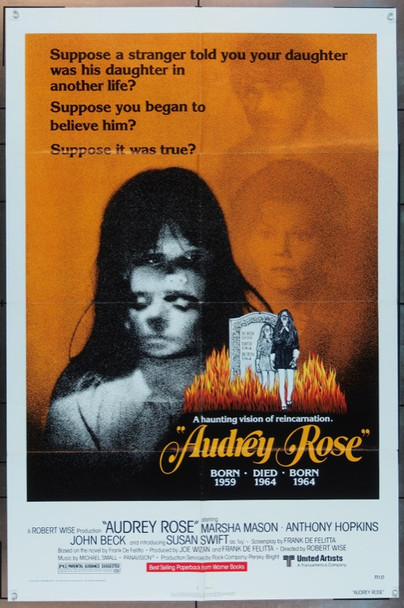 AUDREY ROSE (1977) 5106 United Artists Original One Sheet Poster (27x41).   Folded.  Fine Plus.