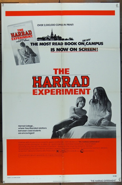 HARRAD EXPERIMENT, THE (1973) 5077 Cinerama Releasing One Sheet   27x41  Folded.  Very Fine Condition